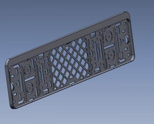Kentekenplaat OostdamEngineering 3D